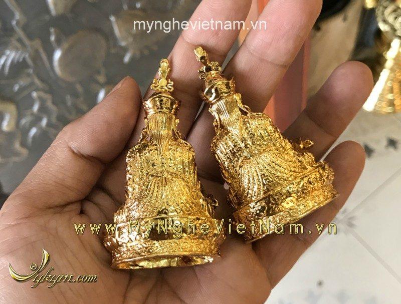 tượng phật mật tông dát vàng cao 10cm