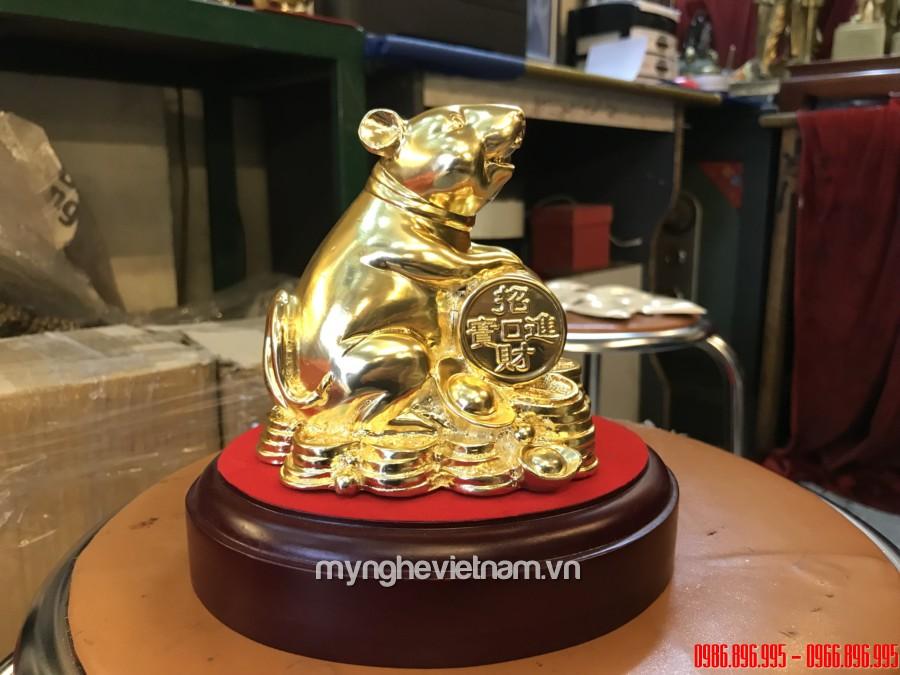 Tượng chuột để bàn làm quà tặng phong thủy cao cấp 12cm