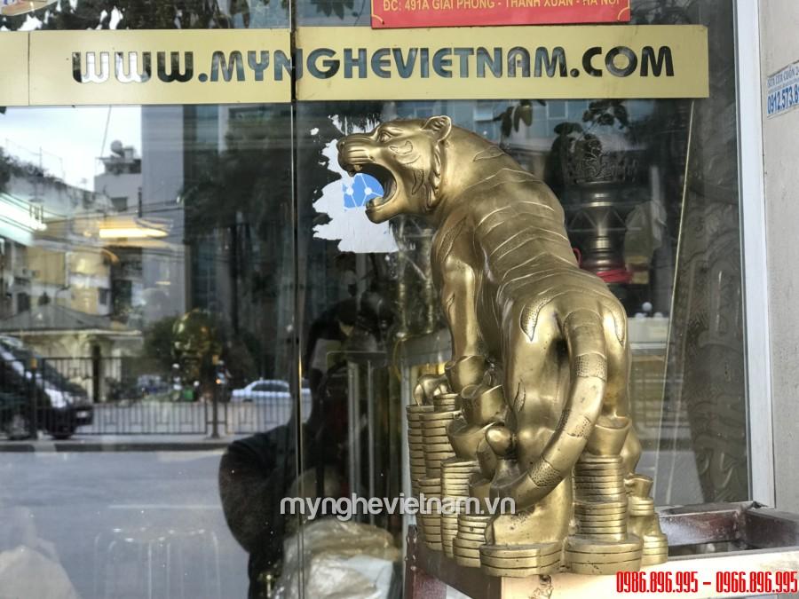 Tượng hổ đồng đứng tiền cao 25cm