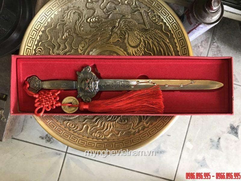 kiếm hổ phù dài 30cm hợp kim đồng