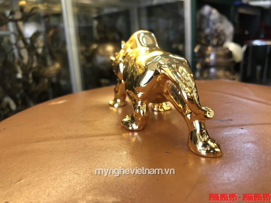 Tượng tê giác đồng mạ vàng 24k cao cấp hợp lý