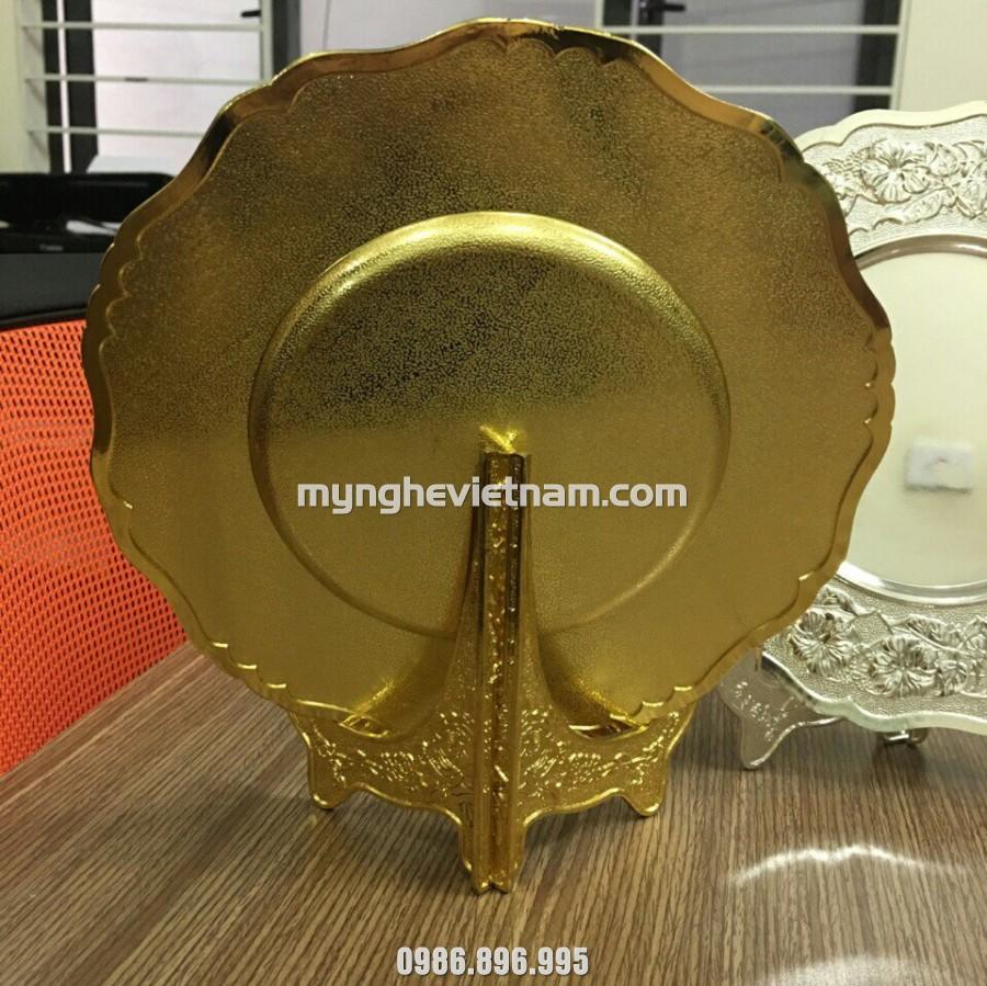 Đĩa quà tặng mạ vàng theo yêu cầu chế tác