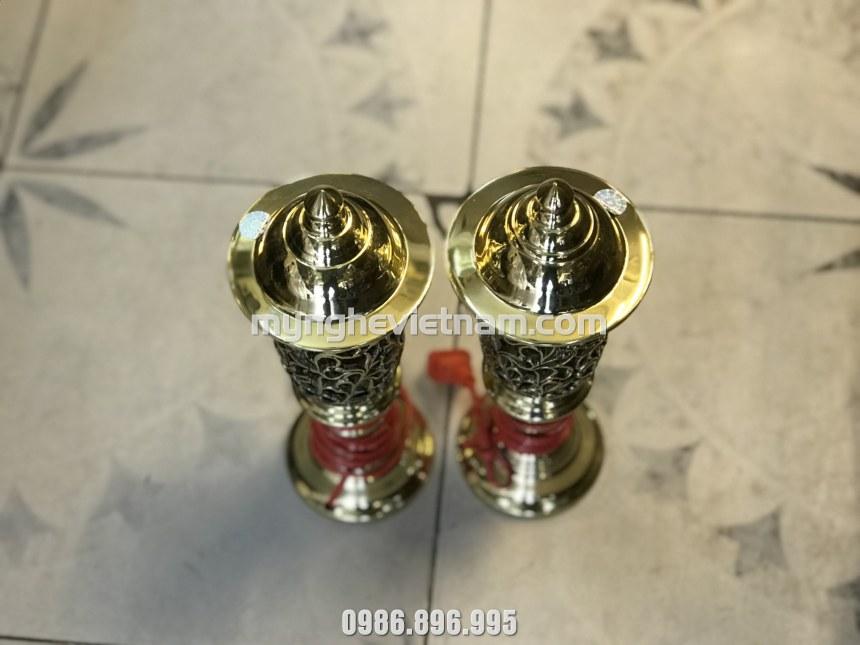 đôi đèn cắm điện cao 25cm cho bàn thờ nhỏ