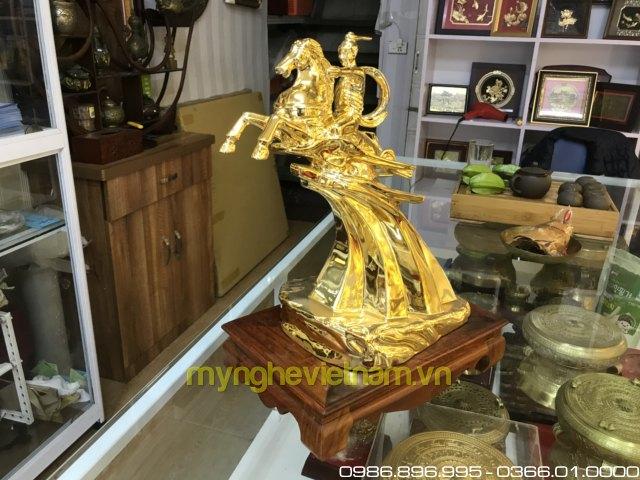 Tượng thánh gióng cao 35cm mạ vàng0