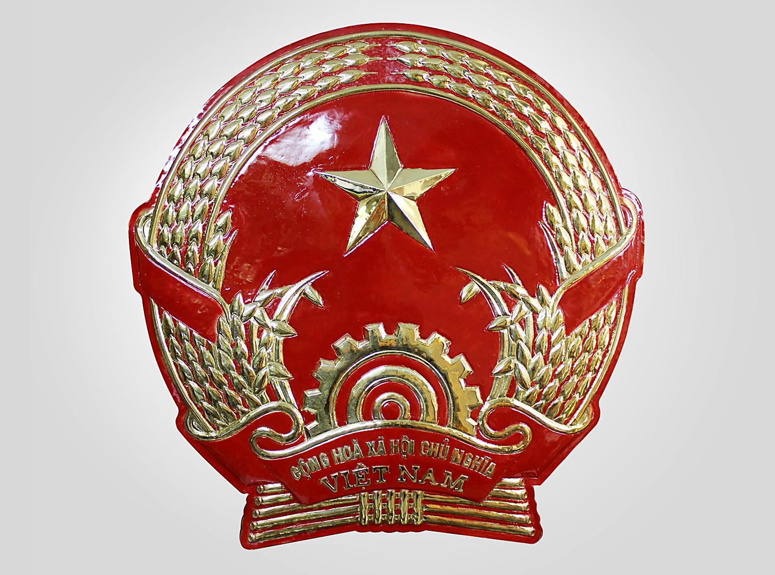 Quốc huy bằng đồng 80cm0