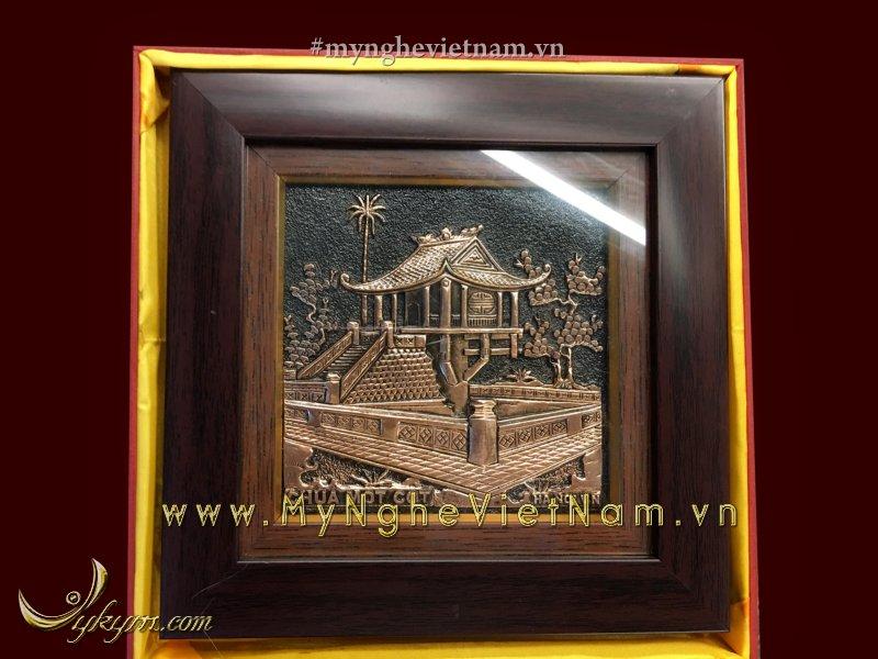 Tranh quà tặng chùa một cột 20 x 200