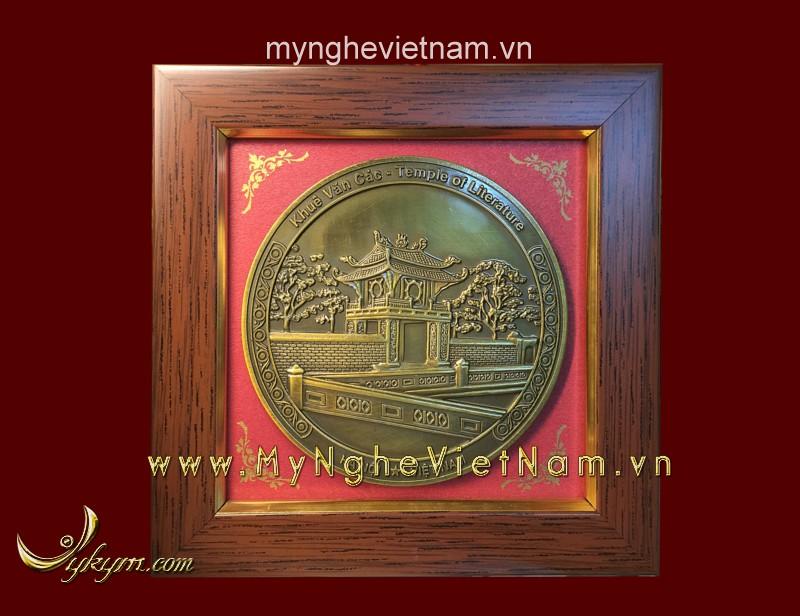 Tranh quà tặng mặt khuê văn các 15 x15 cm0