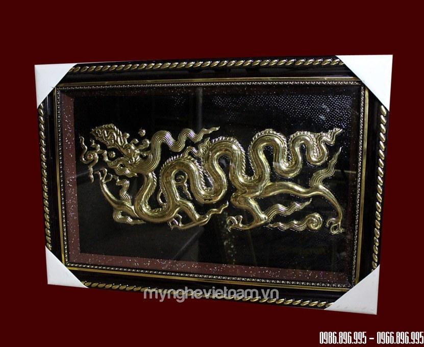 Tranh đồng rồng thời Lý 60 x 40cm0