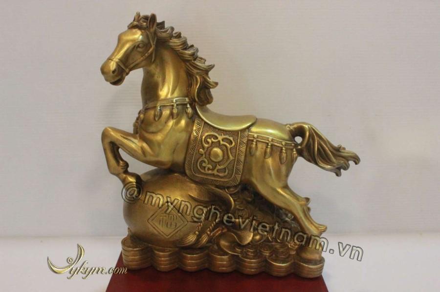 Tượng ngựa dẫm cầu 20cm0