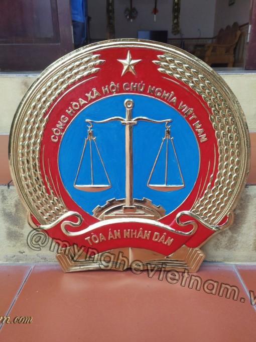 Huy hiệu tòa án bằng đồng , bằng composite0